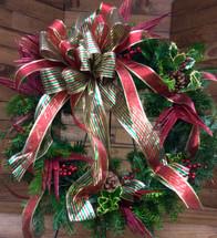 Gold & Glamour Fresh Holiday Wreath