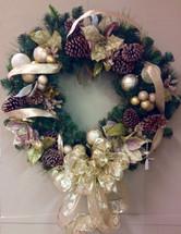 Golden Glow Holiday Wreath