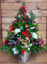Fresh cut Christmas Tree with Trim