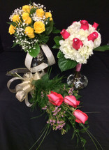 Various Types of Hand-Tied Bridal Bouquets