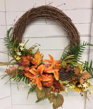 Autumn Grapevine Wreath