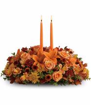 Luxurious Autumn 2 Candle Centerpiece