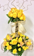 Golden Yellow Rose Topiary