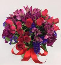 """Floral Jewels"" Cube Vase"