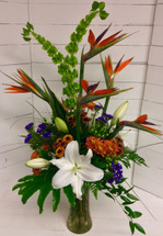 Tropical Treasures Stylish Vase Arrangement