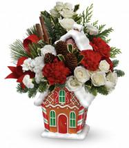 Teleflora's Gingerbread Cookie Jar Bouquet