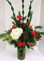 Evergreen Elegance Cylinder Vase Arrangement