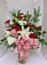 Candy Cane Festive Vase Arrangement