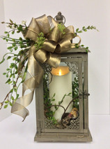 Large Lantern in Earthtones with Mirage Candle