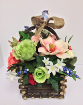 Spring Silk Centerpiece Basket