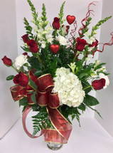 My Forever Valentine Fresh Vase Arrangement
