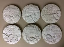 "8"" Round concrete plaques"