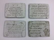 """6"""" by 8"""" concrete plaques"""