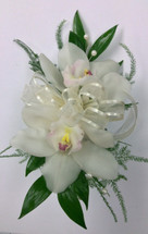 Double Bloom Cymbidium Orchid Corsage with Pearls