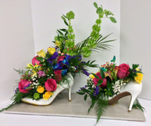 Custom High Heels Celebration of Life Arrangement