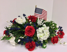 Patriotic Silk Grave Saddle