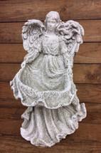 Angel Mary Holding Dress