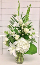 Stylish White Garden Vase