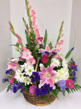 Pastel Pink and Purple Garden Basket