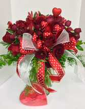 Red Rose Romance and Chocolates arrangement