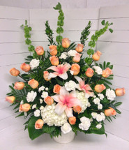 Peaches and Cream Fresh Celebration Of Life Arrangement