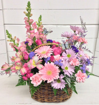 Country Basket in bloom