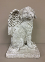 """Winged Dog Angel"" Statue"