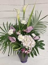 Lovely Lavender Tropical Arrangement