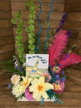 """The Ultimate Graduation Gift Dr. Seuss """"Oh the Places You'll Go!"""" Book with Whimsical Fresh Arrangement"""