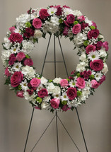 Glorious Rose Garden Large Fresh Wreath