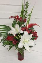 Exotic Crimson Garden Vase