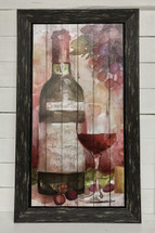 "29"" by 16"" watercolor look wine sign - Cabernet"