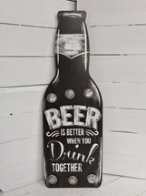 "24"" tall wooden beer sign"