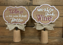 "10"" by 7"" jumbo cork wine sign"