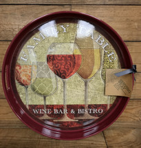"14"" wine serving tray"