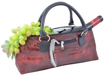 Wine Clutch - Burgundy Croc