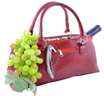 Wine Clutch - Red Serpentes