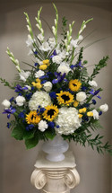 Royal and Golden Yellow Celebration Arrangement