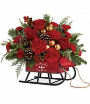 Teleflora's Vintage Sleigh Bouquet
