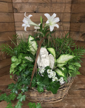 Easter Lily Angel Planter