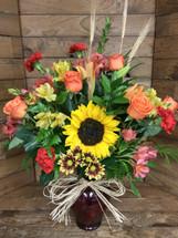 Autumn Stunners Crimson Vase