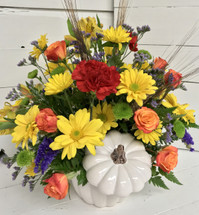 """White Punkin"" Colorful Centerpiece"