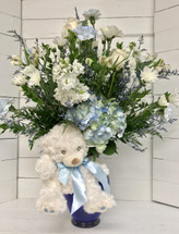 Baby Boy Blue and White Fresh Vase