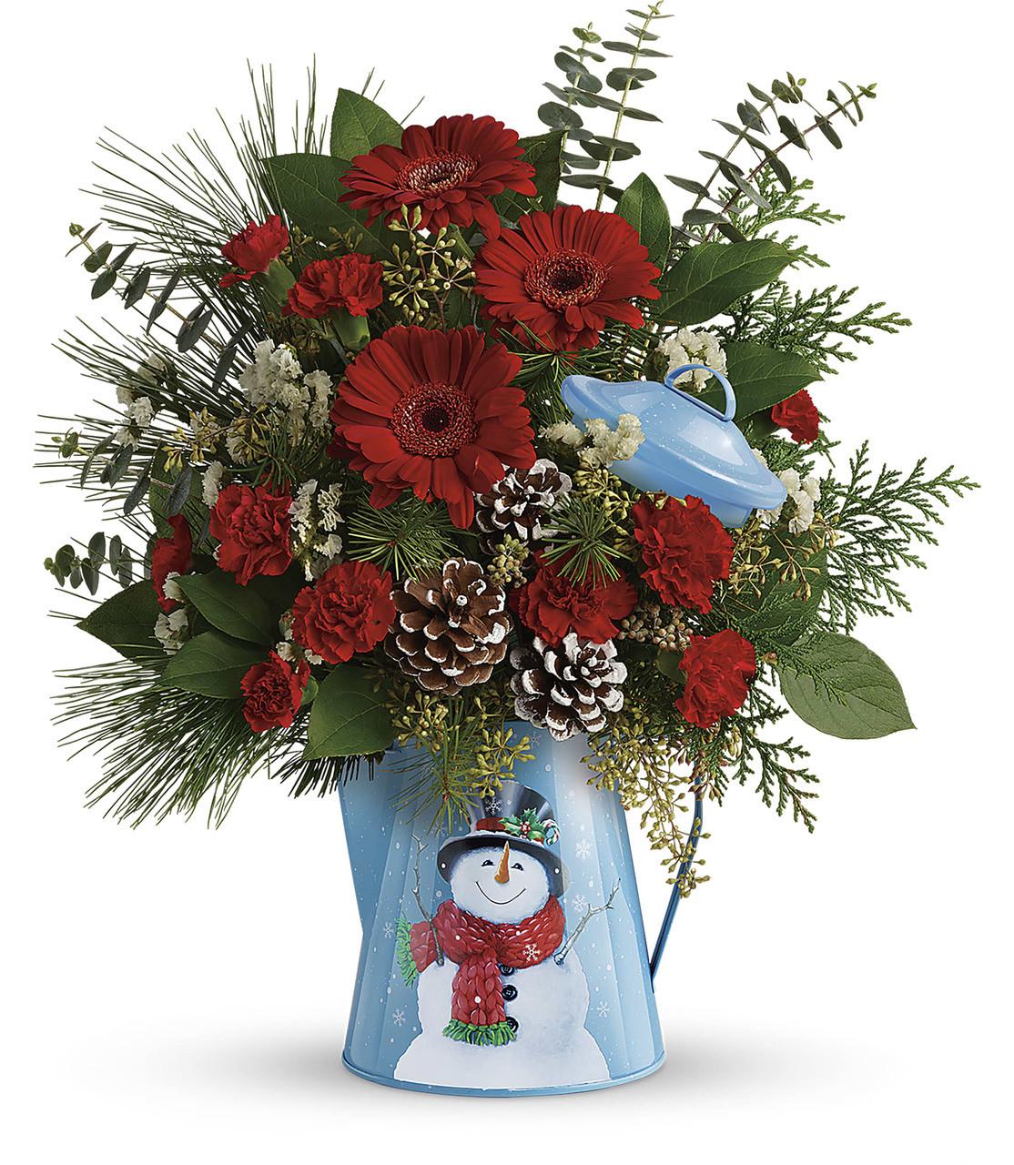 Teleflora Christmas 2019.Teleflora S Vintage Snowman Bouquet