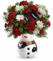 Teleflora's Snowman Cookie Jar Bouquet