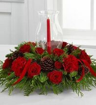 Glowing Crimson Centerpiece