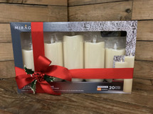"""""""Mirage 5 Candle Gift Pack"""" includes Duracell Batteries and remote"""