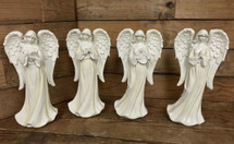Tall resin angels 4 styles, harp, bible, praying, or dove