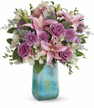 Teleflora's Art Glass Treasure Bouquet