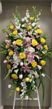Stunning Large Pastel Rose Garden Easel